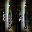 Minadax® Selbstschließender 2 Meter Profi Kabelschlauch Kabelkanal 29mm Innendurchmesser in grau für flexibles Kabelmanagement