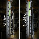 Minadax® Selbstschließender 2 Meter Profi Kabelschlauch Kabelkanal 38mm Innendurchmesser in grau für flexibles Kabelmanagement