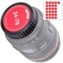 JJC Objektivdeckel Objektivrückdeckel geeignet für Canon EF-S EF Objektive inkl. Aufkleber für Brennweiten, individuell beschriften