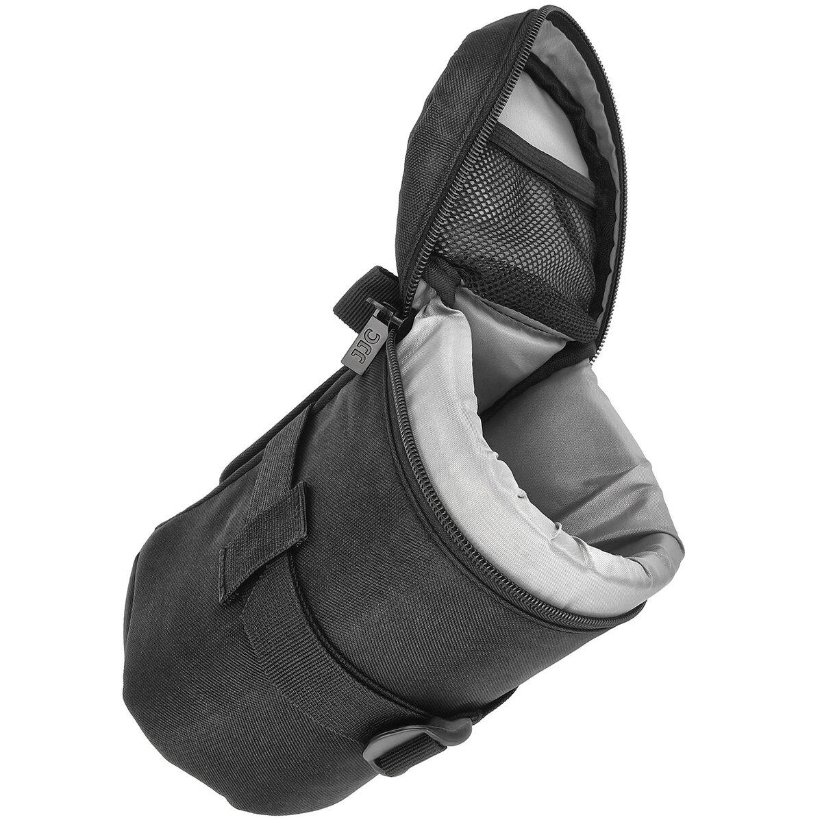 JJC Objektivtasche Objektivköcher Objektivbeutel für Kamera Objektive mit Schultergurt  – Innenmaß 100 x 170 mm – JJC Deluxe Lens Pouch DLP-4