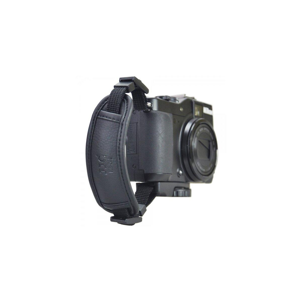 JJC Kamera-Handschlaufe aus hochwertigem Kunstleder kompatibel mit nahezu allen Kameras mit Stativgewinde