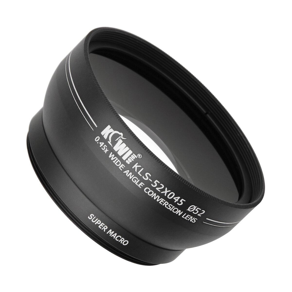 Weitwinkel Vorsatz Weitwinkelobjektiv mit Makrolinse 0.45x Weitwinkel 10x Makro geeignet für Kamera und Camcorder mit 52mm Anschlussgewinde – Kiwi