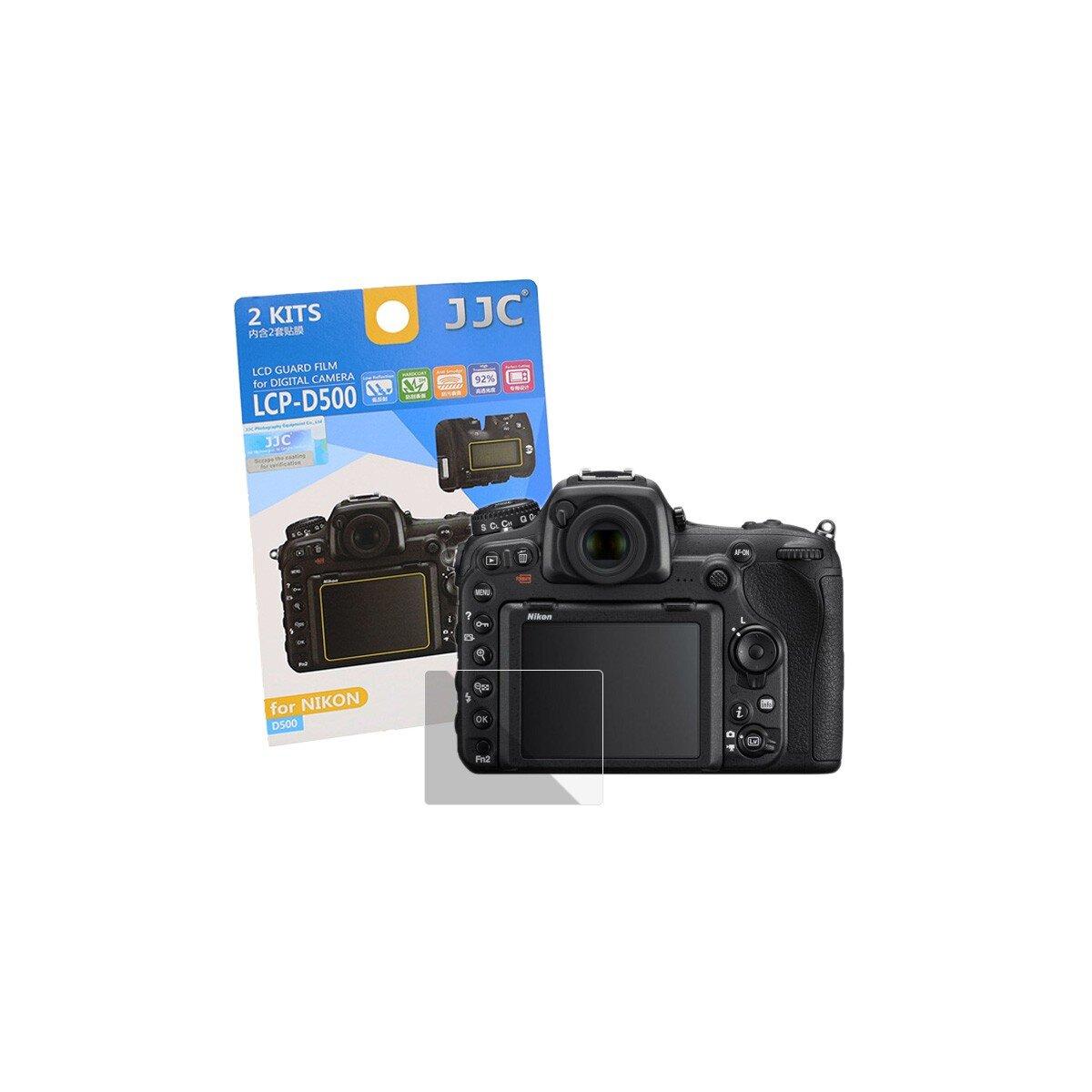 JJC Hochwertiger Displayschutz Screen Protector Displayschutzfolie kompatibel mit Nikon D500