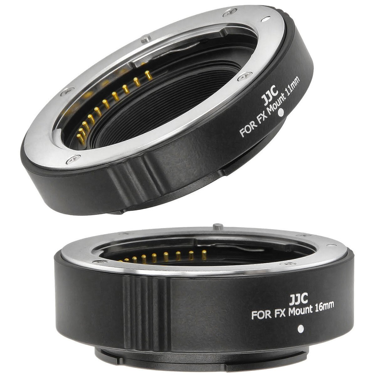 JJC Zwischenring Autofokus kompatibel mit Fujifilm X-Mount 11mm und 16mm geeignet für Makroaufnahmen mit Autofunktion und Blendenübertragung