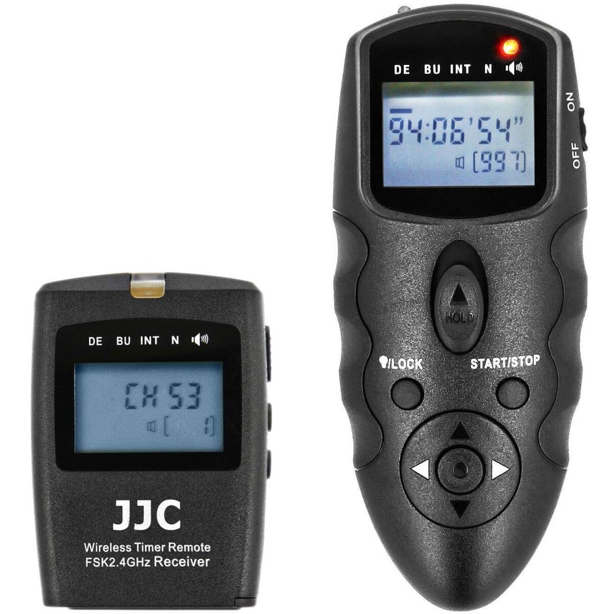 JJC Universal Timer bis zu 100m Reichweite Fernauslöser Funkauslöser HDR mit programmierbare Funktionen