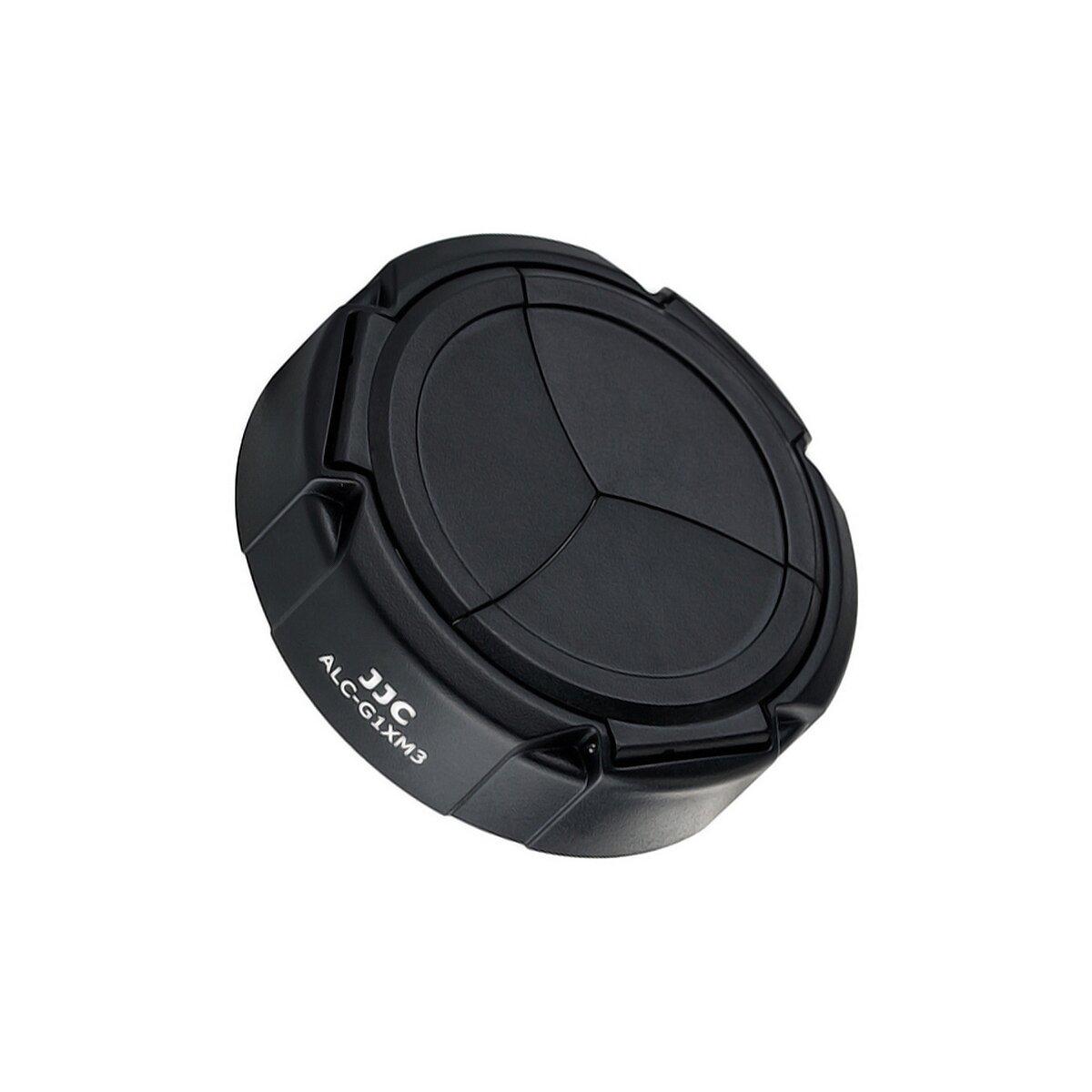 JJC AUTOMATIK Objektivdeckel Schutzdeckel Schutzkappe| SCHÜTZT VOR KRATZERN SPRITZWASSER STAUB & STÖßEN | kompatibel mit Canon PowerShot G1X Mark III
