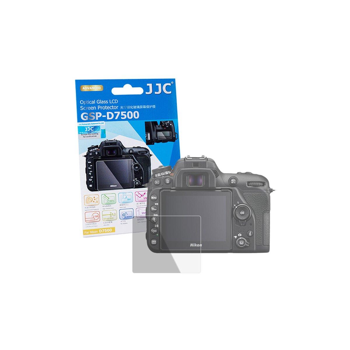 JJC Hochwertiger Displayschutz Screen Protector aus gehaertetem Echtglas, kompatibel mit Canon EOS 200D Hochwertiger Displayschutz Screen Protector aus gehärtetem Echtglas, kompatibel mit Nikon D7500