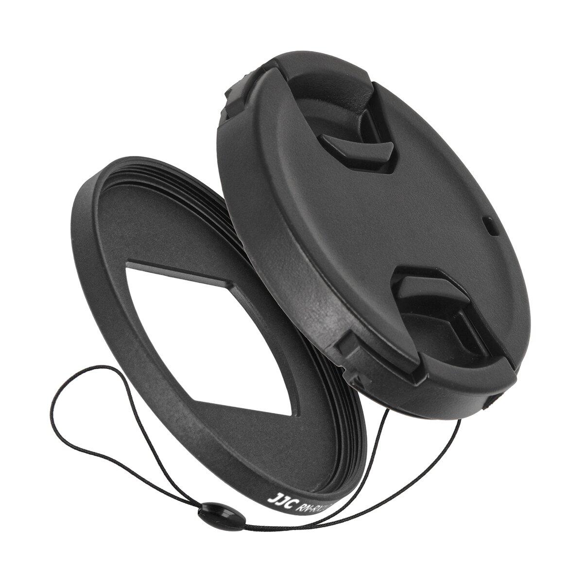 Impulsfoto 4 Teiliges Filteradapter und Objektivdeckel-Set kompatibel für Sony RX100 VI , mit Smart Snap Funktion und praktischer Sicherungskordel 52mm Umfang
