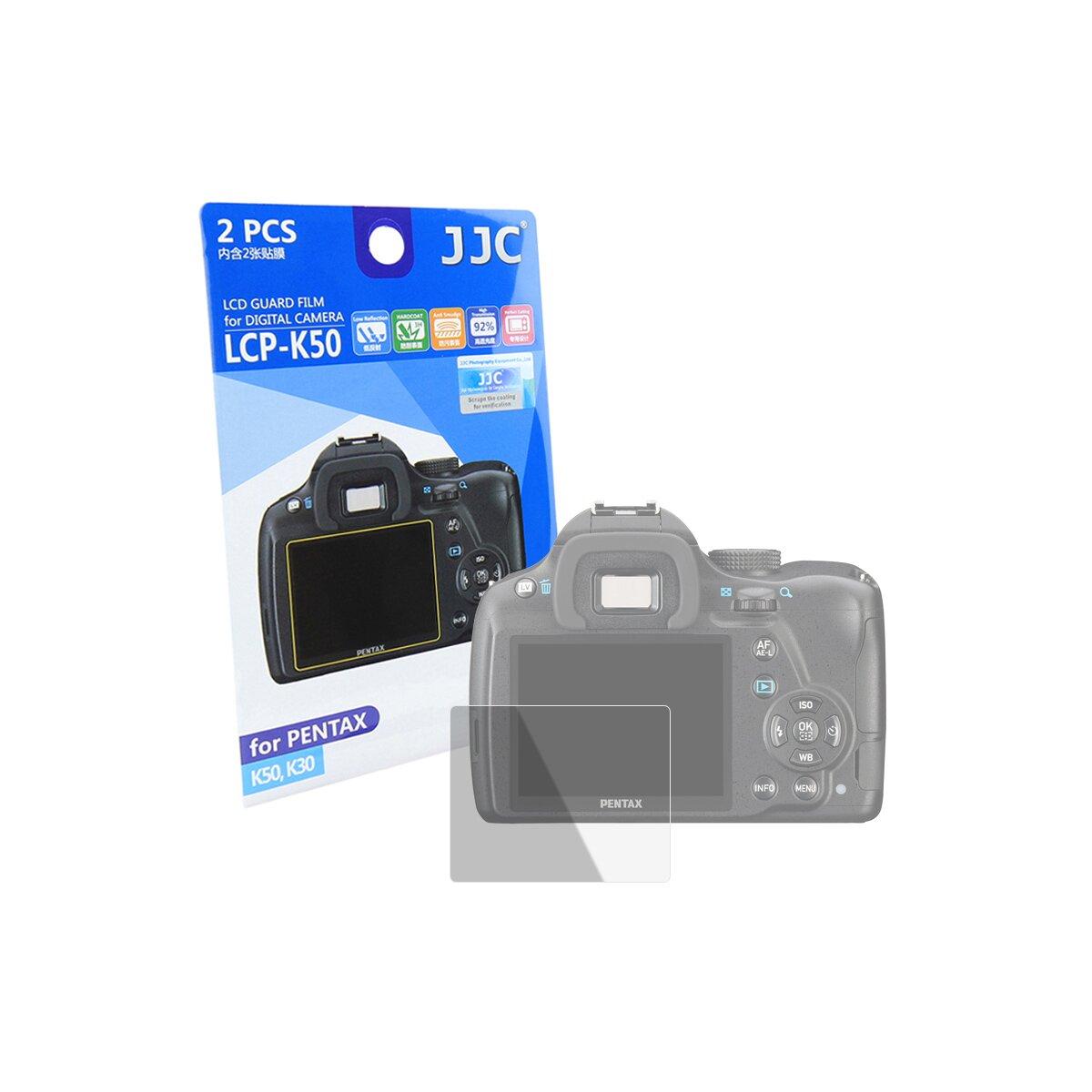 JJC Kamera-Displayschutzfolie für Pentax K50, K30 | Gehärtete 9H Schutzfolie, schütz vor Kratzern | Klarer Bildschirm