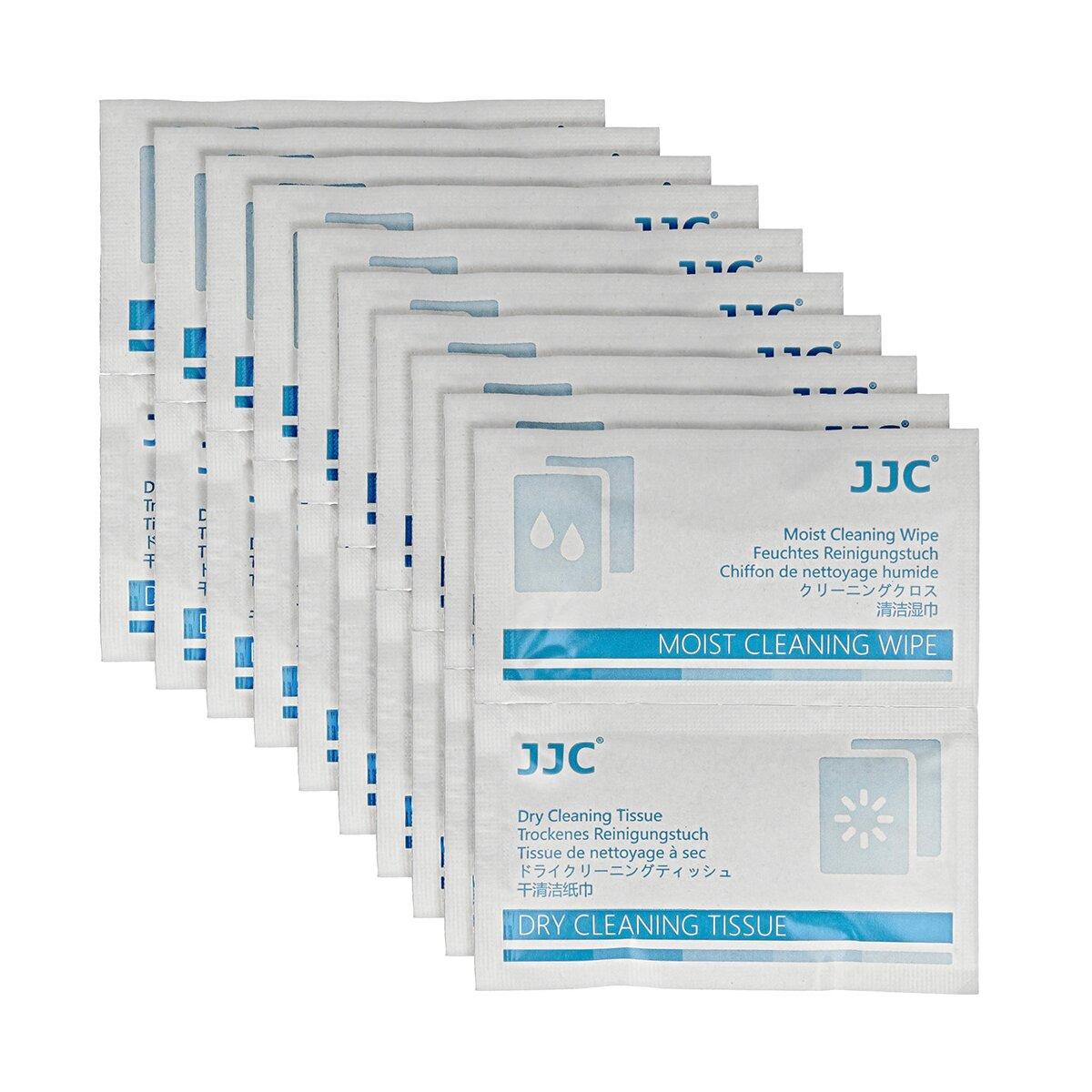 JJC Reinigungstücher für Objektivlinsen   Einweg-Reinigungstücher-Kits für Objektive, Filter, Linsen, Display   10 feuchte und trockene, nichtalkoholische Reinigungstücher