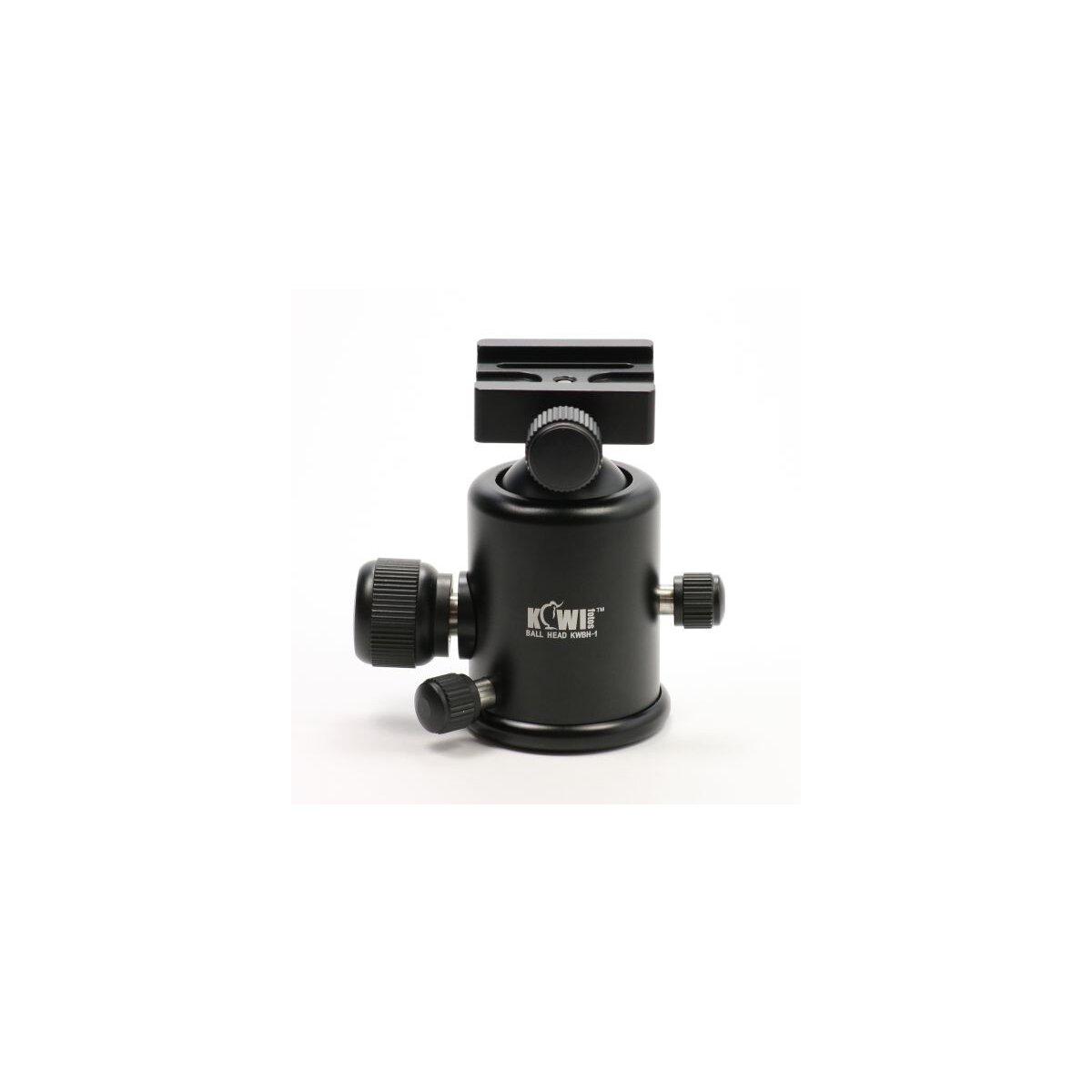 KIWI 3D Kugelkopf (max. 10kg) Stativkopf inkl. Schnellwechselplatte (Arca Swiss kompatibel)