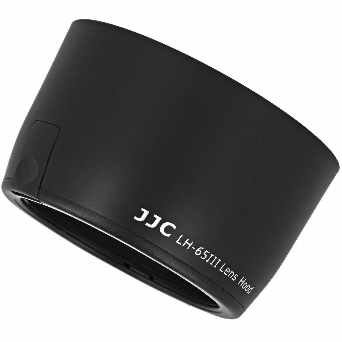 JJC Sonnenblende Gegenlichtblende Streulichtblende kompatibel mit Canon EF 100-300mm f/4.5-5.6 USM, EF 100mm f/2 USM, EF 135mm f/2.8, EF 85mm f/1.8 USM - Ersatz für ET-65III