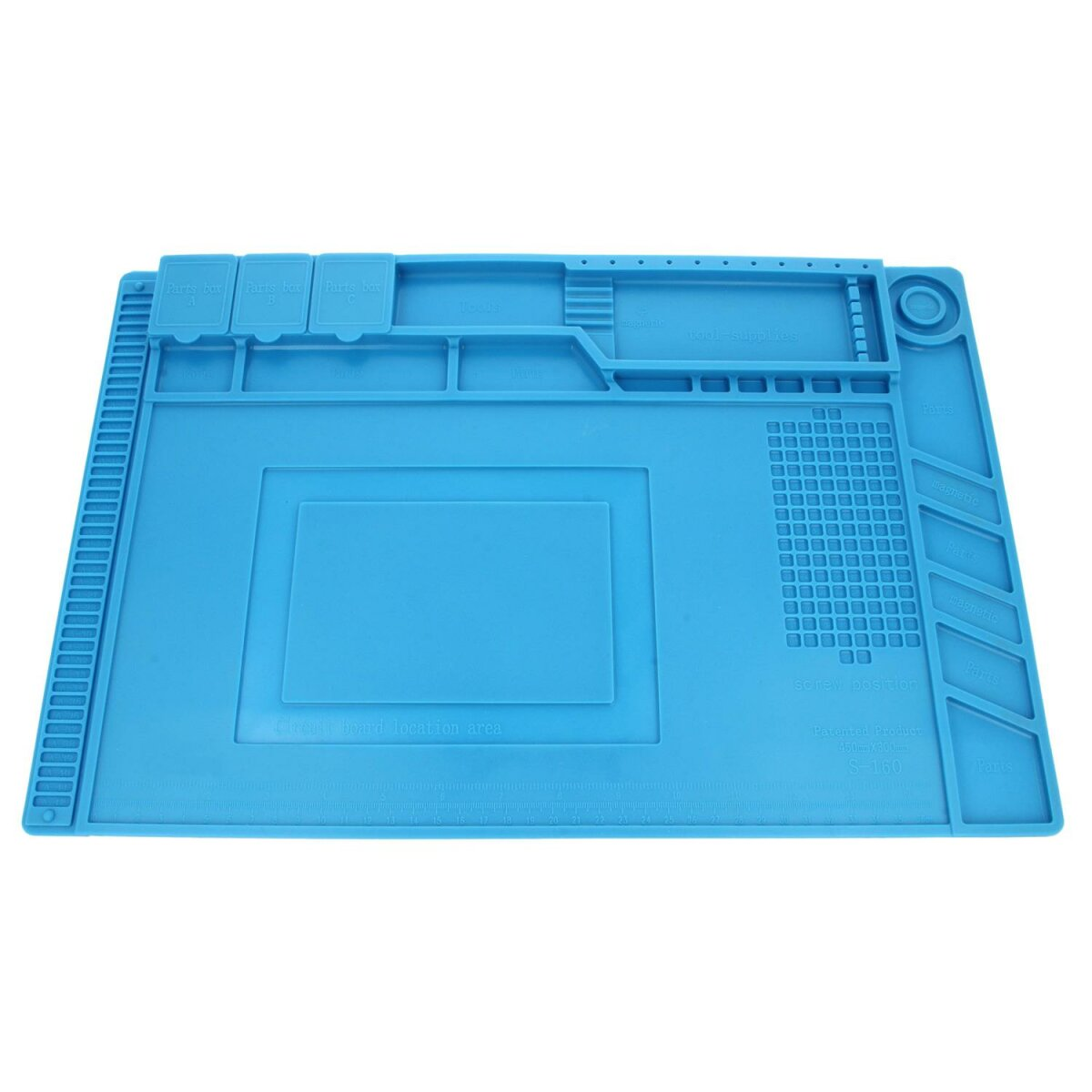 Minadax hitzebeständige (bis zu 500°C) Lötmatte mit Magnetfeldern - 30 x 45 cm – ideal geeignet für Reparaturen