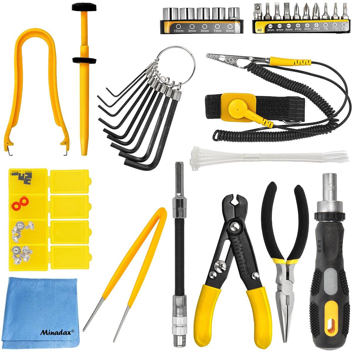43 Stück PC Computer Reparatur und Werkzeugsatz im Werkzeugtasche von Maplin