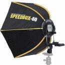 Impulsfoto SMDV Speedbox-60, Hexagon-Softbox 60cm, Weiche...