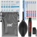 JJC Reinigungs-Set für Objektive, Displays, Filter und anderen optischen Oberflächen, Blasebalg, Reinigungsstift, Reinigungstücher, Mikrofasertücher, Aufbewahrungsveutel