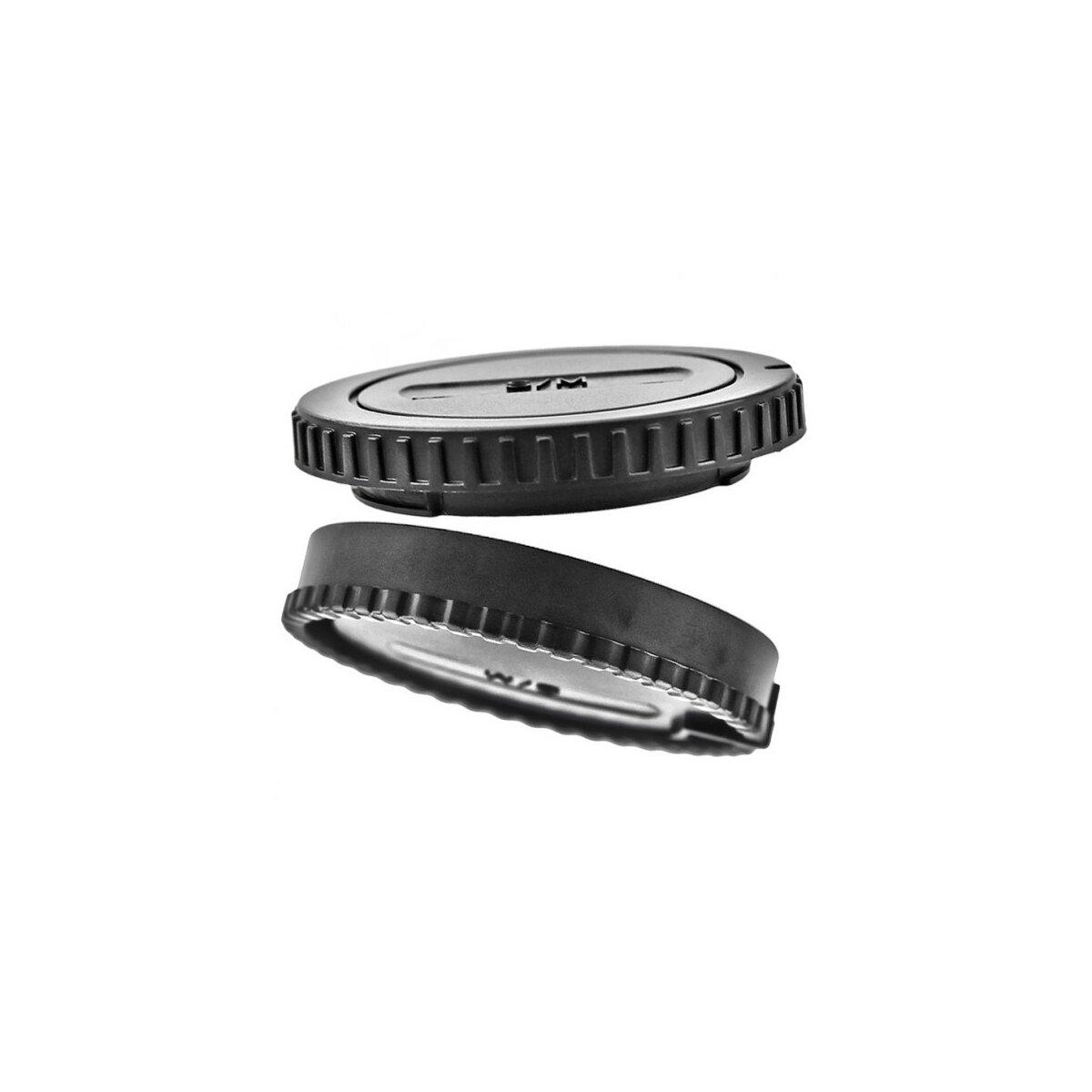 JJC Kamera-Gehäusedeckel und Objektivrückdeckel Set geeignet für Sony Objektiv / Kamera mit E-Mount Bajonett.