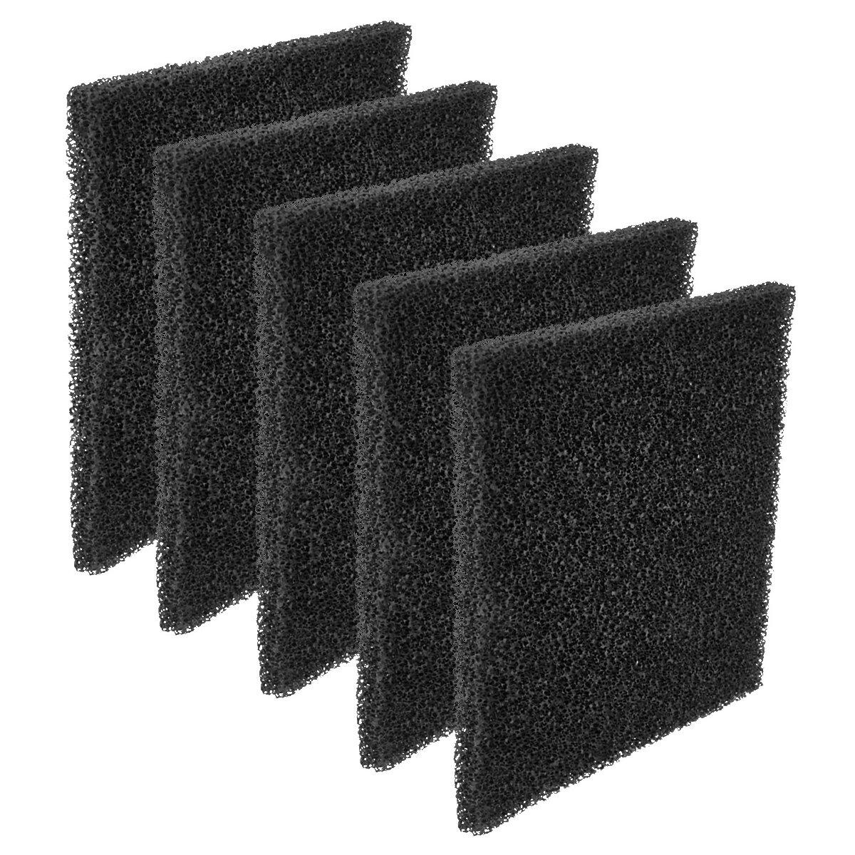 Minadax Aktivkohlefilter, 5x Kohlefiltermatte, geeignet für Rauchabsauger, 13cm x 13cm, Neutralisiert schädliche Dämpfe