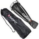 Impulsfoto Triopo MX-SK55 Softbox 55cm für Blitzgeräte + Transporttasche, Weiche Ausleuchtung, Schirm-Softbox mit 180° Neigung
