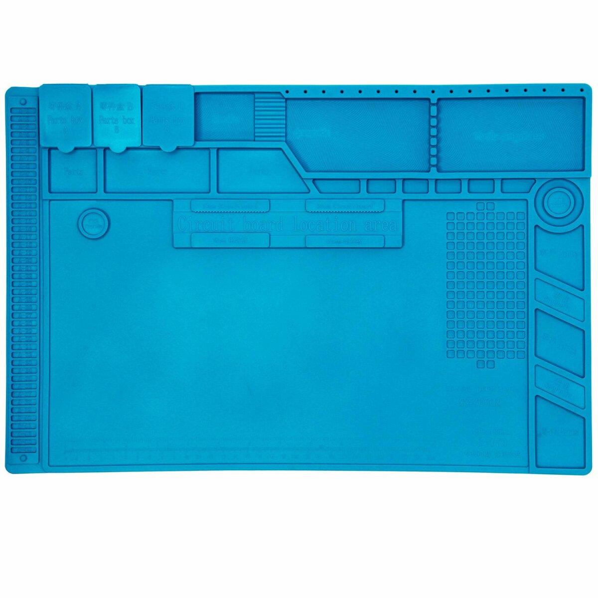 Minadax XL Lötmatte 48 x 31.8cm - Silikonmatte 500°C Hitzebeständige Reparaturmatte - Rutschfest