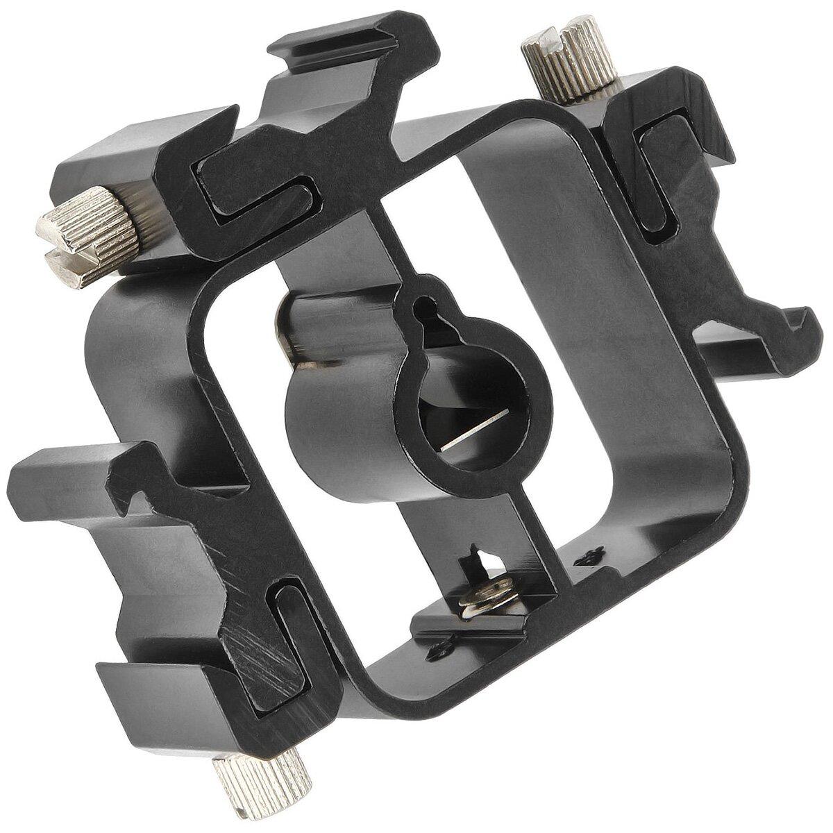 Minadax Qualitativ hochwertiger universeller Stativadapter | Blitzlicht Halterung Hot Shoe aus METALL für bis zu 3 Blitzgeräte