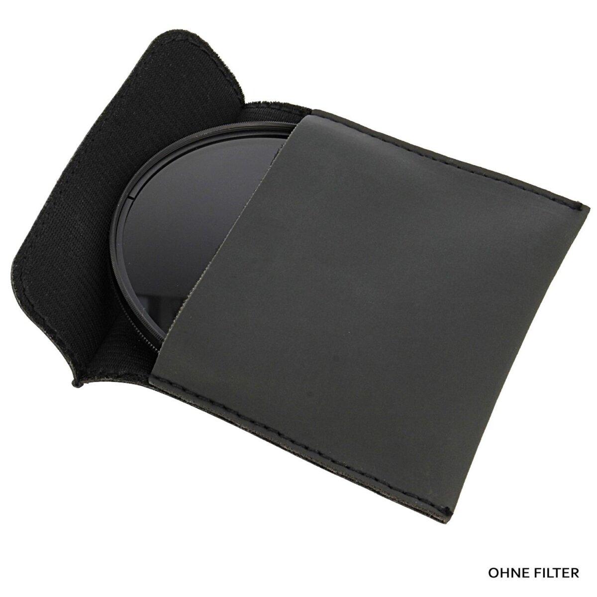 Minadax Objektivfilter Filtertasche Filteretui Größe S (100mm x 96mm) Schwarz für SLR, DSLR Kameras