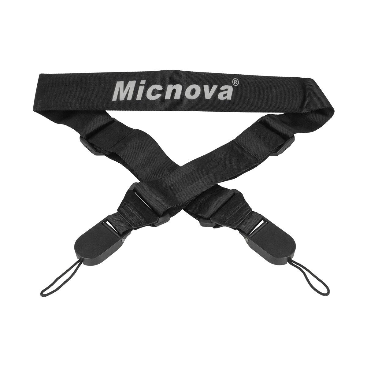Micnova Kameragurt Tragegurt   Kamera Sicherheitsgurt gepolstert anschmiegsam   Längenverstellbarer Kameragurt mit Schnellverschluss