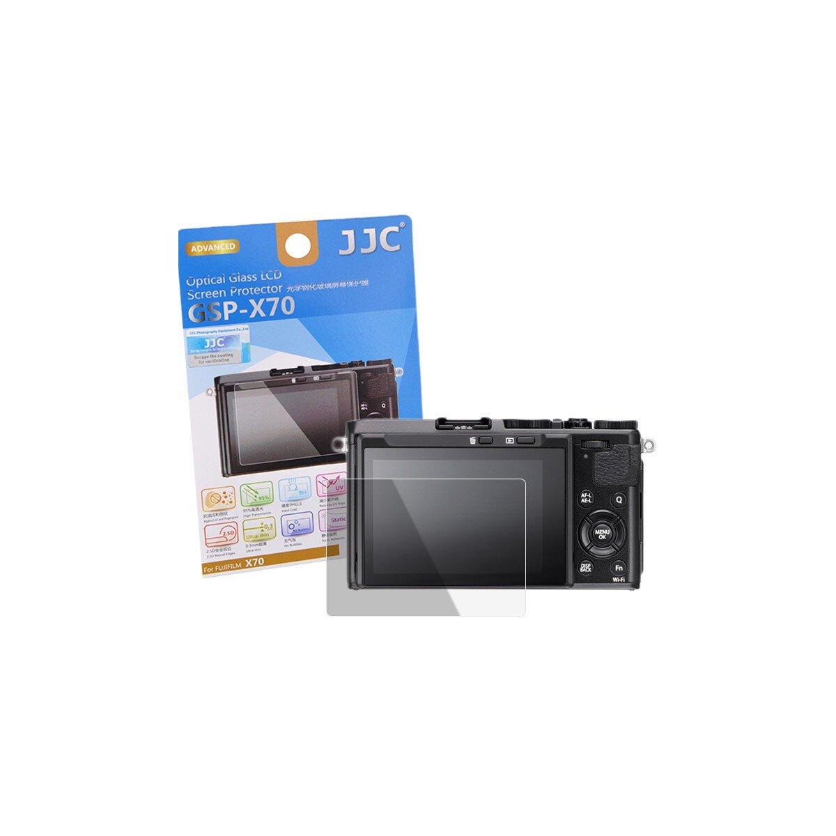 JJC Hochwertiger Displayschutz Screen Protector aus gehaertetem Echtglas, passend für Fujifilm X70
