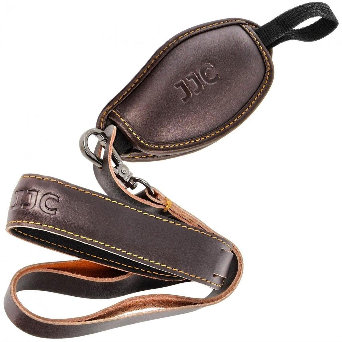 JJC Handschlaufe für Kamera mit Stativgewinde aus echtem Leder geeignet für alle SLR- und DSLR-Kameras