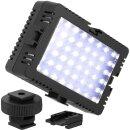 LED-Videoleuchte Flächenleuchte geeignet für kleine DSLR DSLM Kameras/ Camcorder stufenlos dimmbar 560 LUX auf 60cm Entfernung von JJC