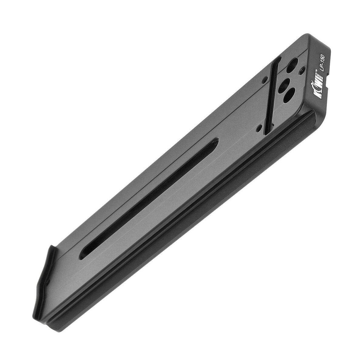 KIWI Schnellwechselplatte für Objektive geeignet für Nikon Canon Sigma Pentax Sony Objektive qualitativ verarbeitet aus Aluminium mit Arca-Swiss Schnellspanner System - LP-150