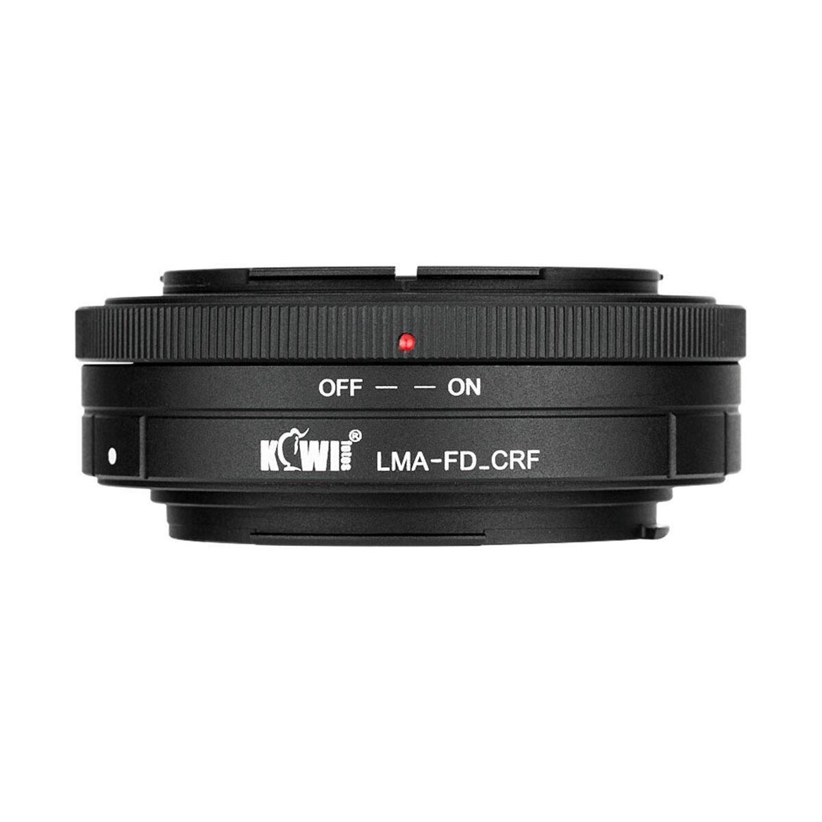 Kiwi LMA-FD-CRF Objektivadapter, Adapterring   Konverter Canon FD zu Canon RF, Kompatibel mit Canon FD-Objektive auf Canon EOS R Kameras