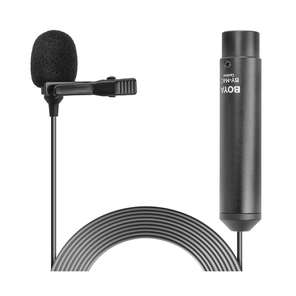 Boya BY-M4C Krawattenmikrofon für Digitale Spiegelreflexkamera, Schwarz