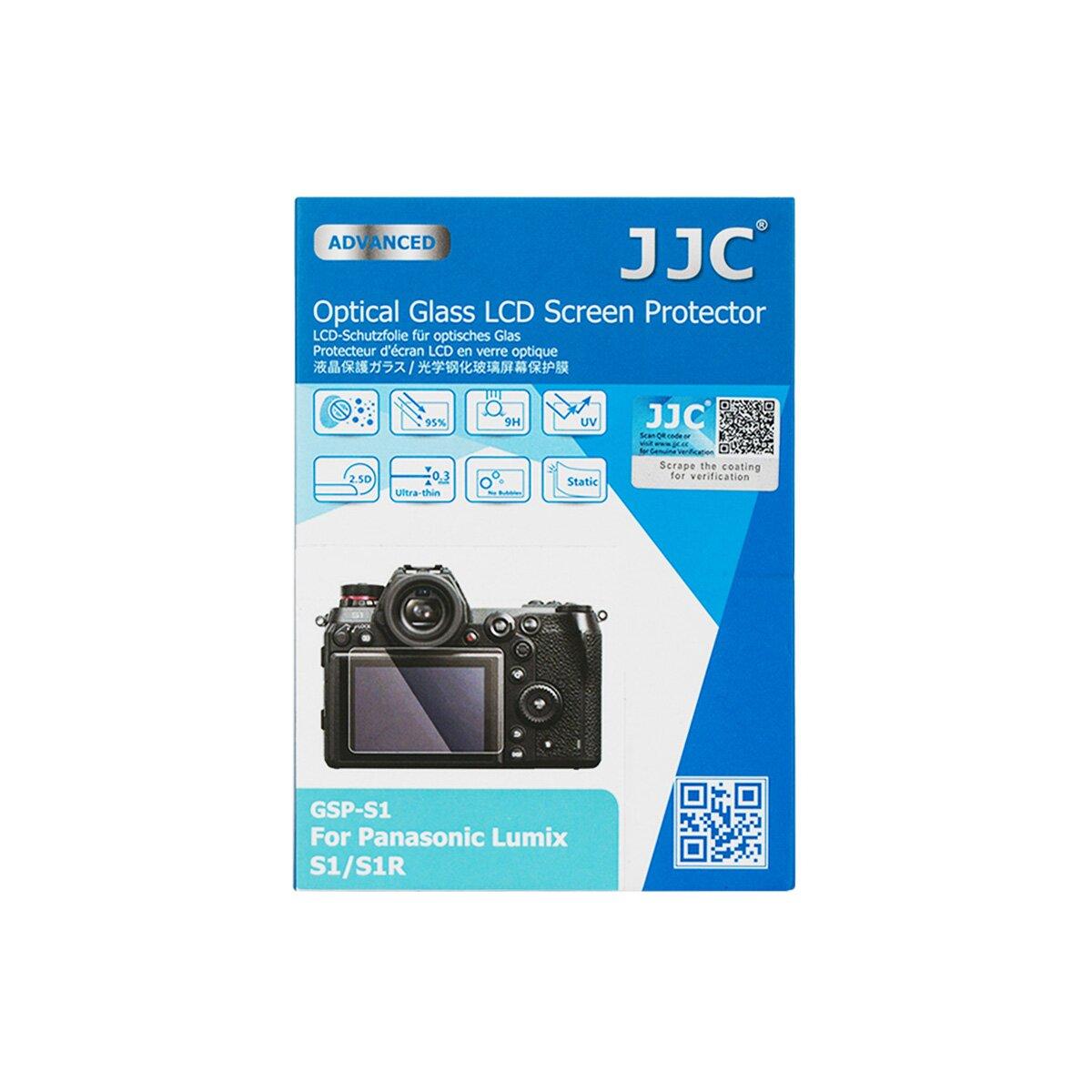 JJC Hochwertiger Displayschutz Screen Protector aus gehaertetem Echtglas, kompatibel mit Panasonic Lumix S1, S1R