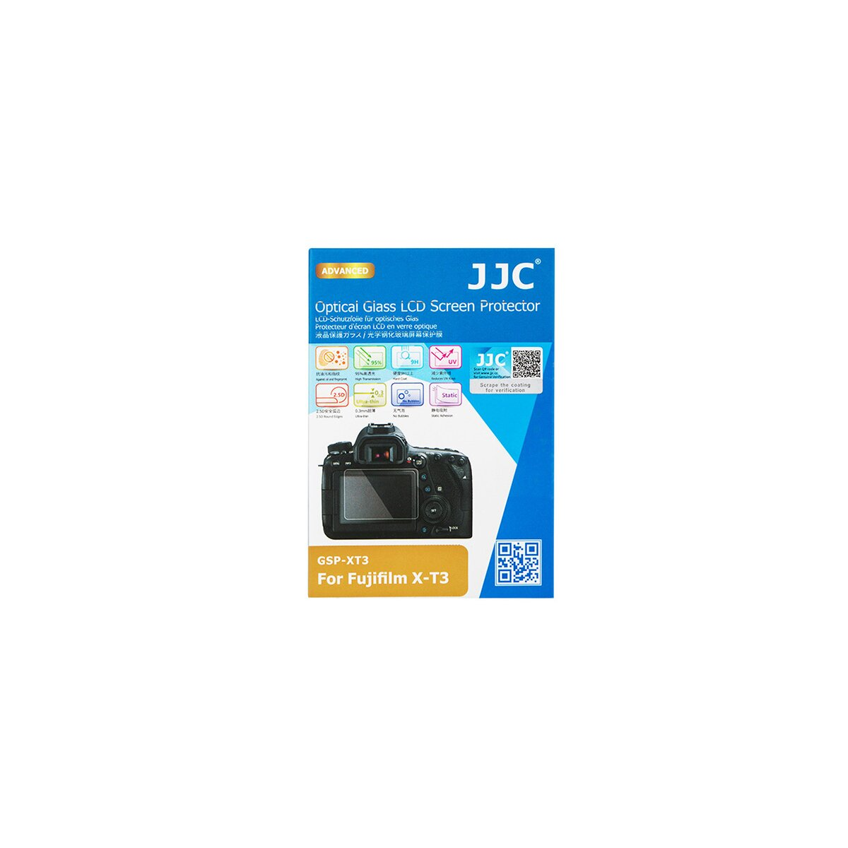 JJC Hochwertiger Displayschutz Screen Protector aus gehaertetem Echtglas, kompatibel mit Fujifilm X-T3