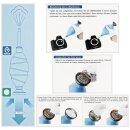 Impulsfoto JJC Kamera Sensor Reinigungs Kit für Vollformat Kameras, 12 x 24mm Swab Einzeln Vakuum verpackt Staubfrei + Starker Blasebalg mit Staubfilter