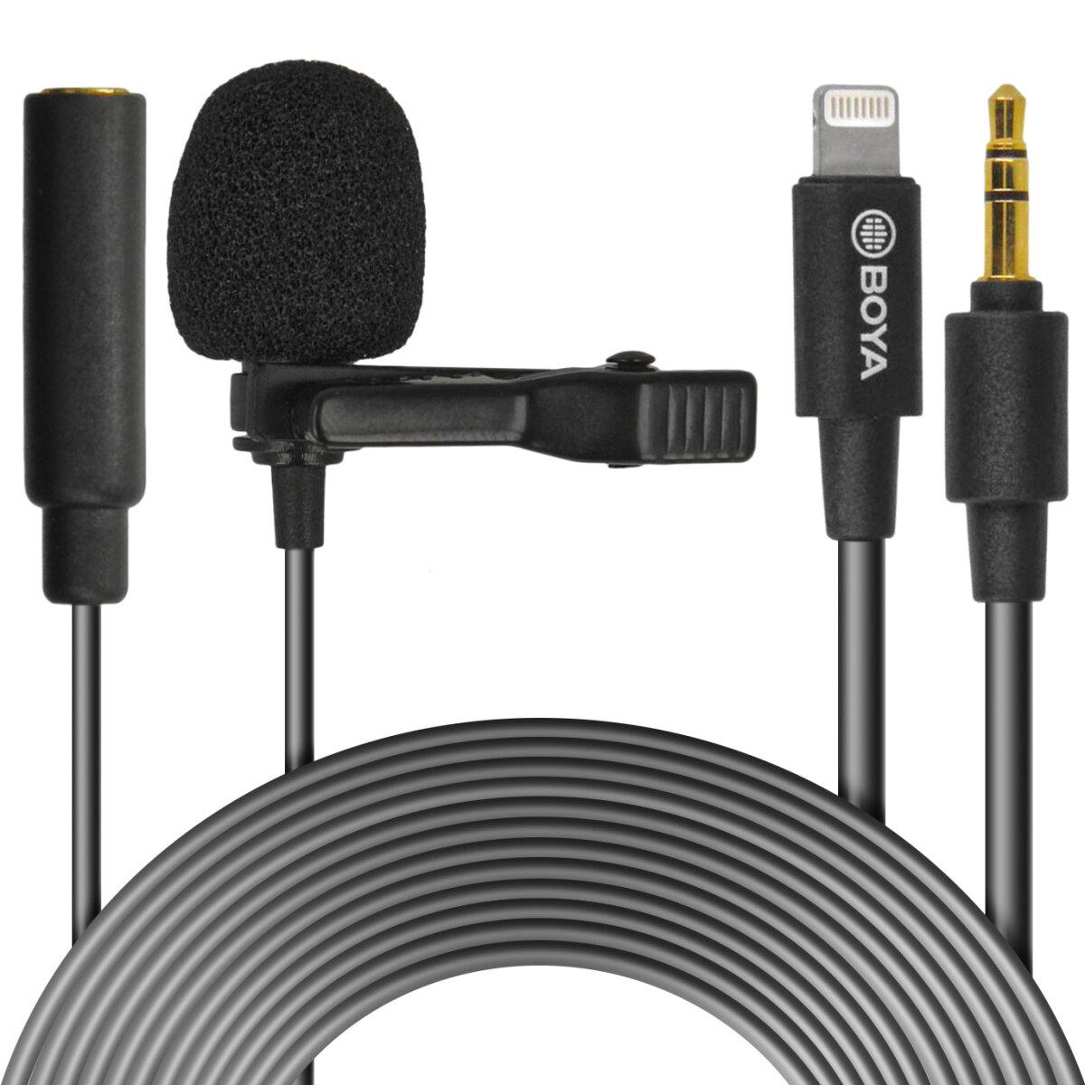BOYA Lightning lapel mic for iPhone - BY-M2