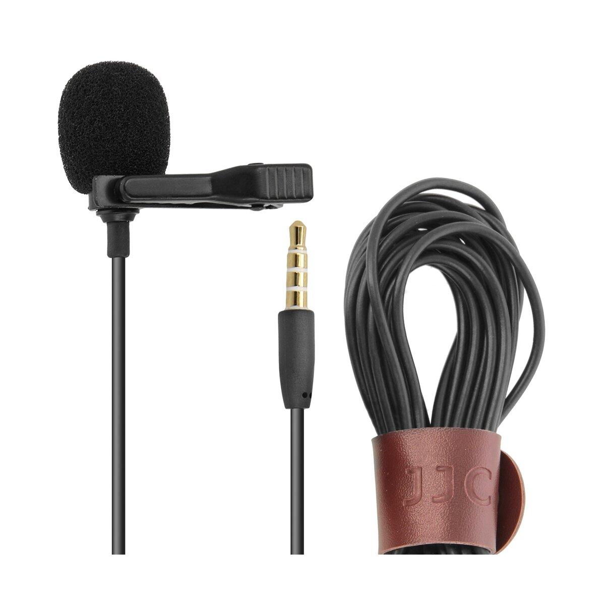 JJC Lavalier-Mikrofon für Smartphone | Ansteckmikrofon mit Clip | Mikrofon, aufnahme aus allen Richtungen, 4m Kabellänge | Perfekte Wahl für Video-Blogger