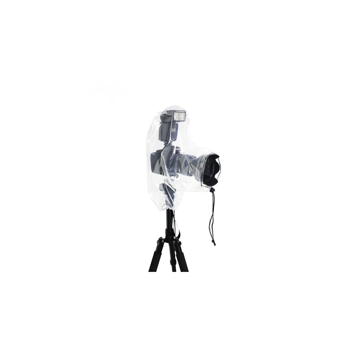 Impulsfoto JJC Kamera Regenschutzhülle, Rain Cover Wasserdicht   Durchsichtige Schutzhülle für kleine DSLR Kameras mit Objektiv bis 25cm Länge