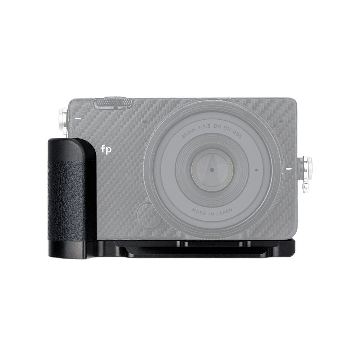 JJC HG-FP Metall Kamera Handgriff | kompatibel für Sigma FP | Hochwertige Aluminiumlegierung | Mikrofaserleder | Arca Swiss-Type Schnellwechselplatten-Design | Ersatz für Sigma HG-21