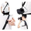 Impulsfoto JJC Professioneller Schnellwechsel-Schultergurt NS-PRO1M für Rechtshänder | Geeignet für DSLRs und Spiegellose Kameras | Inklusive Zusätzlichem Sicherungsriemen