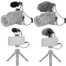 KIWIFOTOS KM-VL1 Nierenmikrofon Shotgun-Videomikrofon Kondensatormikrofon    Für DSLR-Kameras, Camcorder, Smartphones, Tablets, Recorder usw.   Klare Tonaufnahme   Kompakt und Robust