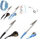 Minadax 60 x 60cm Antistatik ESD Matte in Blau inkl. Handschlaufe + Erdungsstecker + Verlängerung 1,7m