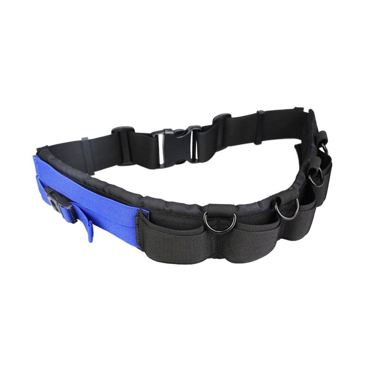 Impulsfoto JJC GB-1 Utility Fotographie-Gürtel   Leicht   Polyester - Atmungsaktives 3D-Netz - Haltbares POM   Platz für 5 Objektivtaschen   4 Metall-D-Ringe Für Zubehör   Länge Einstellbar