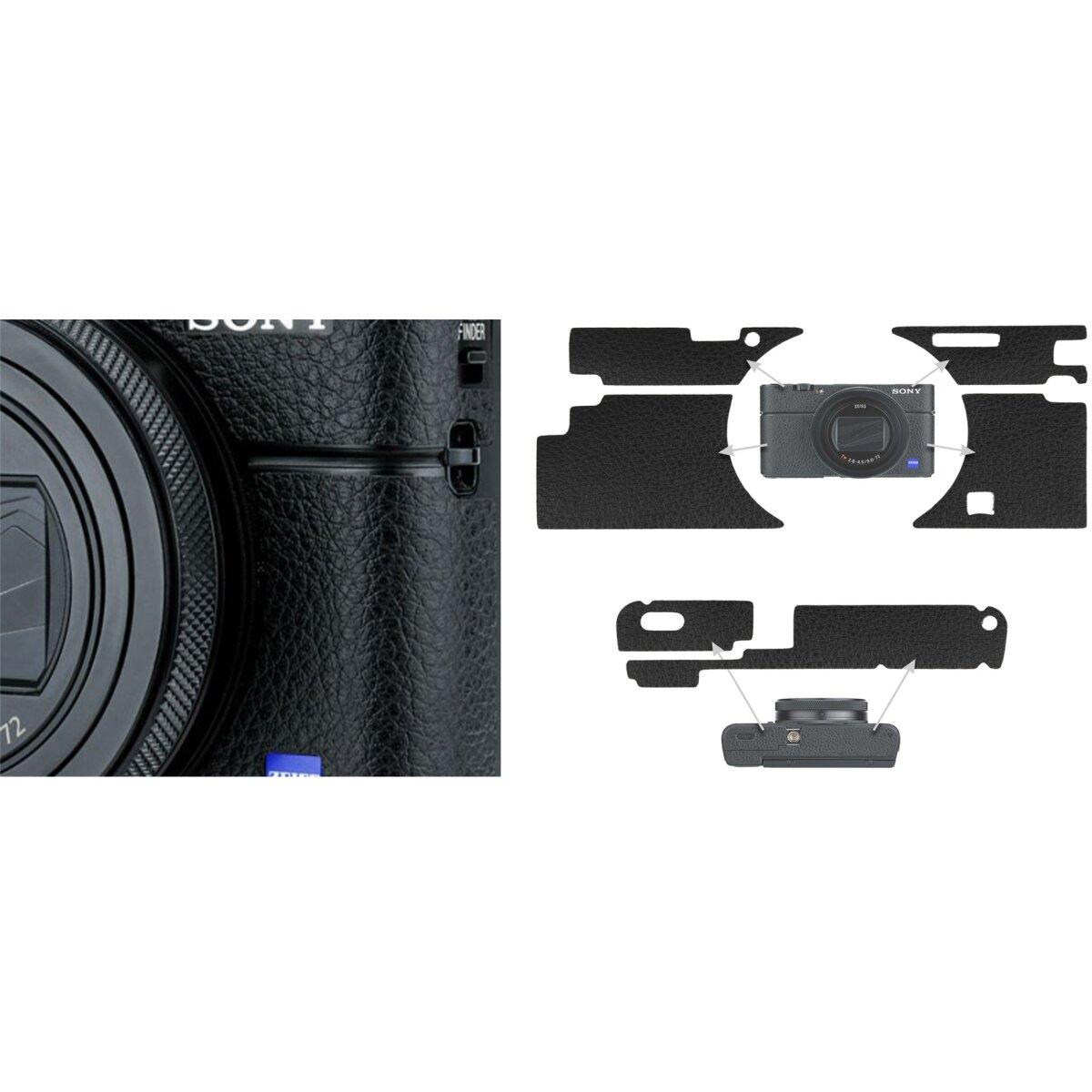 Impulsfoto KIWIFOTOS Kamera-Aufkleber Lederdekoration   Für Ausgewählte Sony-Kameras   Maßgeschneidertes Design   Schutz und Bessere Griffigkeit   Kompatibel für Sony RX100 VI