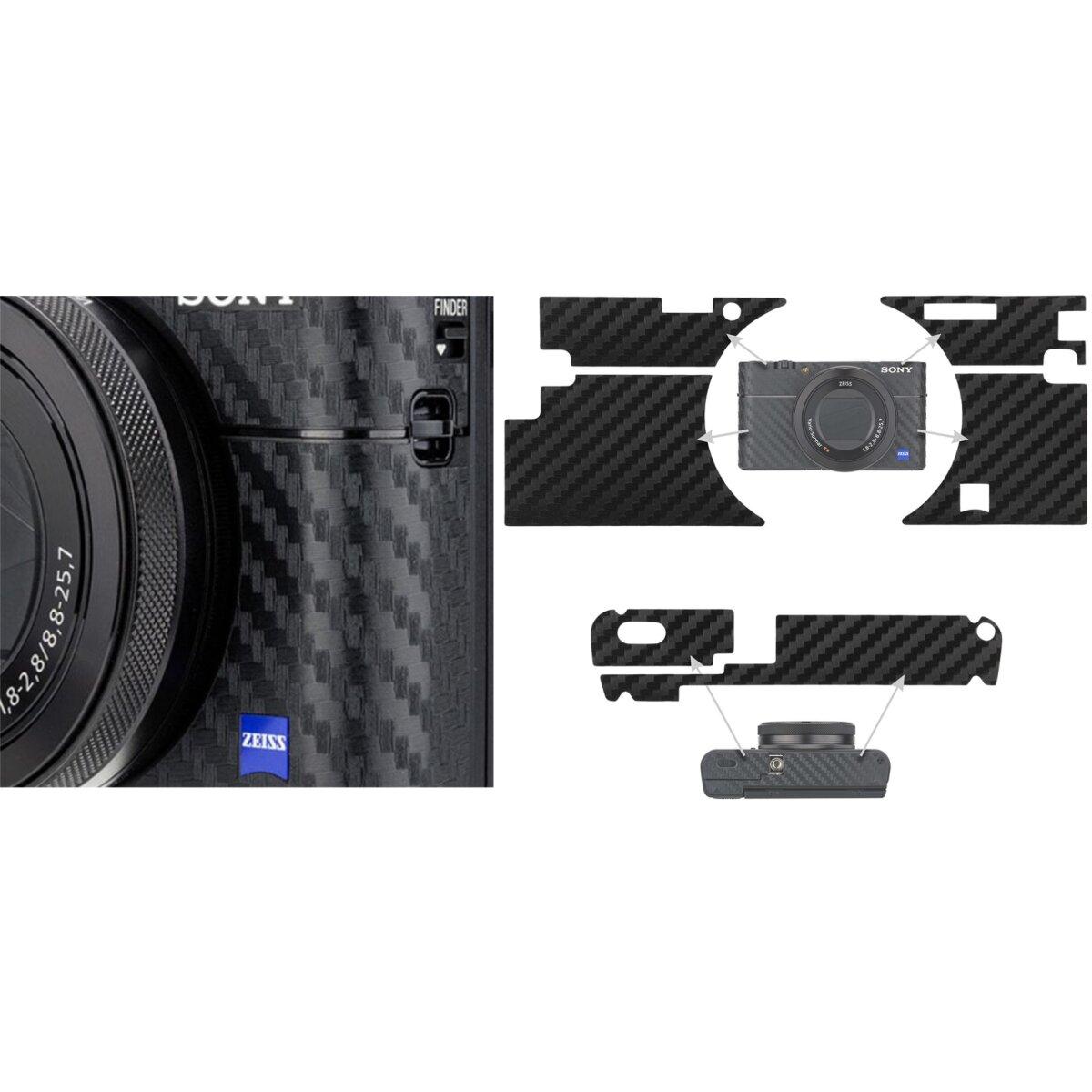 Impulsfoto KIWIFOTOS Anti-Kratzer-Schutzfolie   Kohlefaserstruktur   Besserer Grip   Hochwertiges 3M-Material   Kompatibel für Sony RX100 V, RX100 VA, RX100 III   Modell: KS-RX100VCF