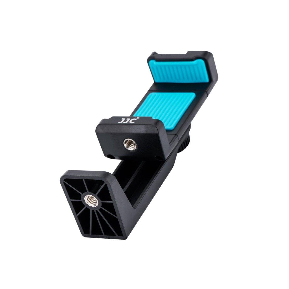 Impulsfoto JJC Smartphone-Ständer | Kompatibel für iPhone, HUAWEI, MI, Samsung und Anderen Gängigen Smartphones | 360 Grad Drehbar | Mit Anti-Rutsch-Pads | Farbe: Blau |  Modell: SPS-1A BLUE
