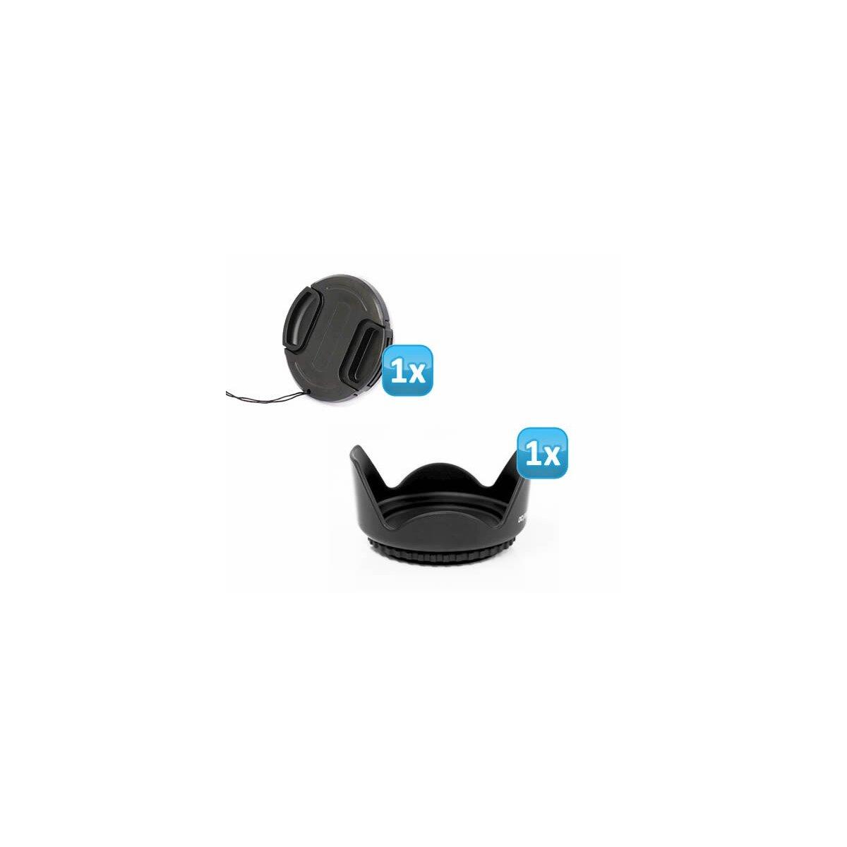 Sonnenblende Universal 67mm kompatibel für Nikon AF-S VR 70-300 / 4,5-5,6 G IF-ED + Pro Lens Cap 67mm (Schnappddeckel)