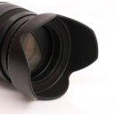 Sonnenblende Universal 77mm z.B fuer Canon EF-S 10-22mm 1:3.5-4.5 + USM / Canon EF 17-40mm 1:4L USM u.v.a. + Pro Lens Cap 77mm (Schnappdeckel)