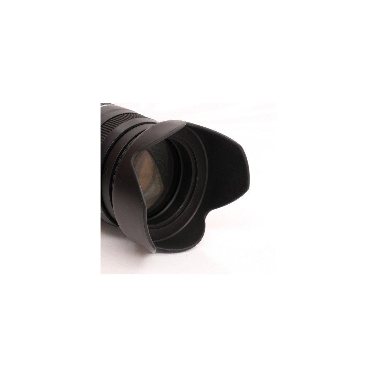 Universal Sonnenblende 52mm z.B. fuer Nikon AF-S DX 18-55mm / Pentax 18-55mm SMC / Tamron AF 55-200mm u.v.a.